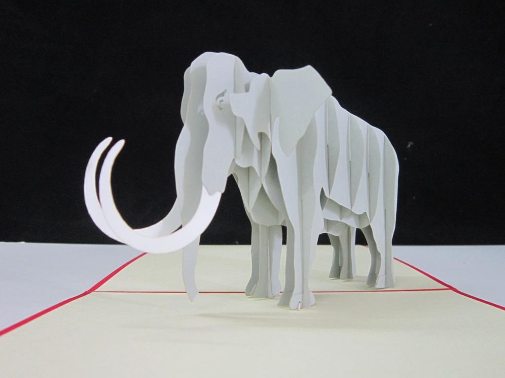 thiệp nổi hình voi
