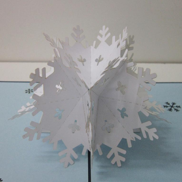 thiệp nổi giáng sinh hình bông tuyết