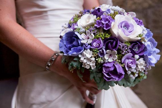 hoa cưới bằng đất sét