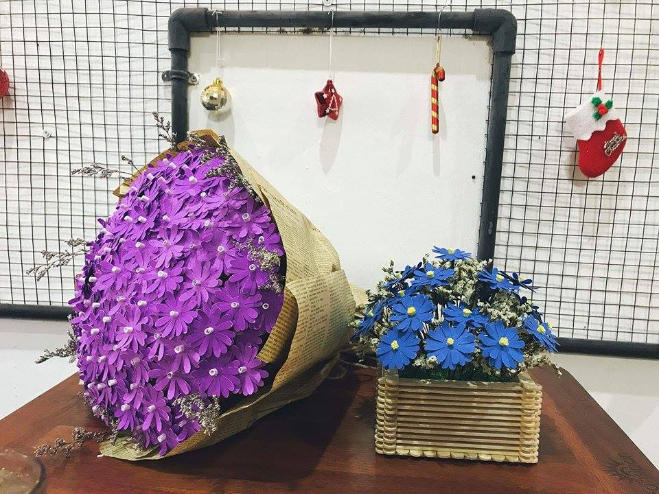 làm hoa giấy handmade