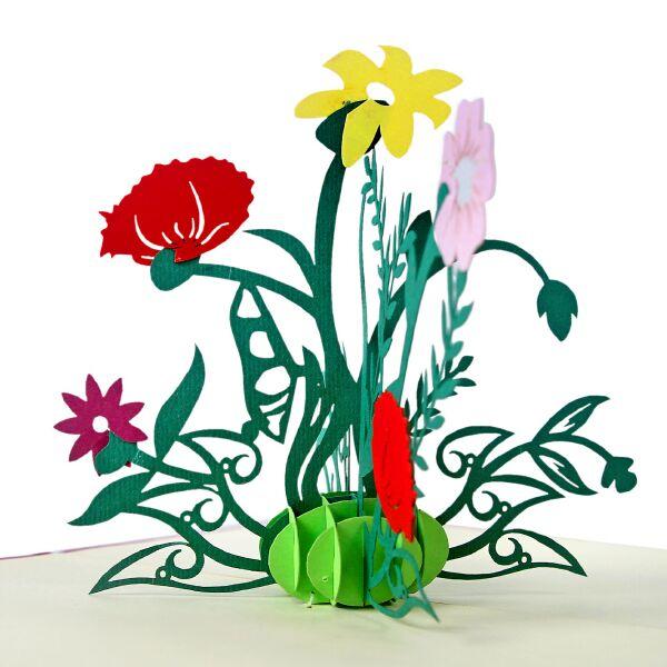 thiệp nổi hình hoa