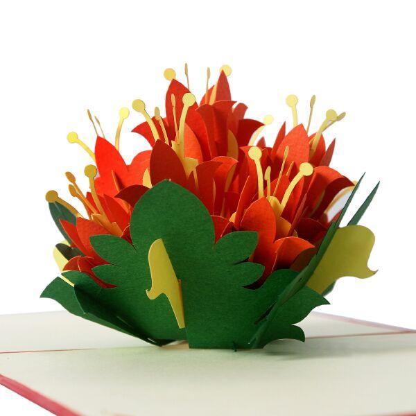 thiệp nổi hình hoa sinh nhật