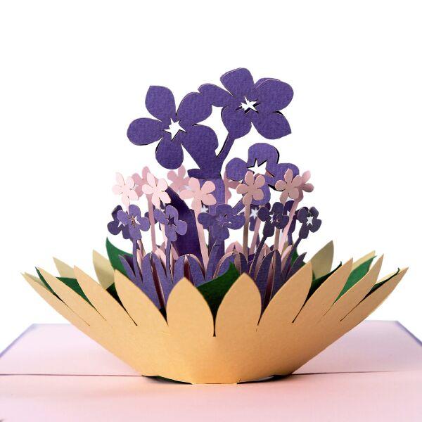 thiệp nổi hoa thủy tiên