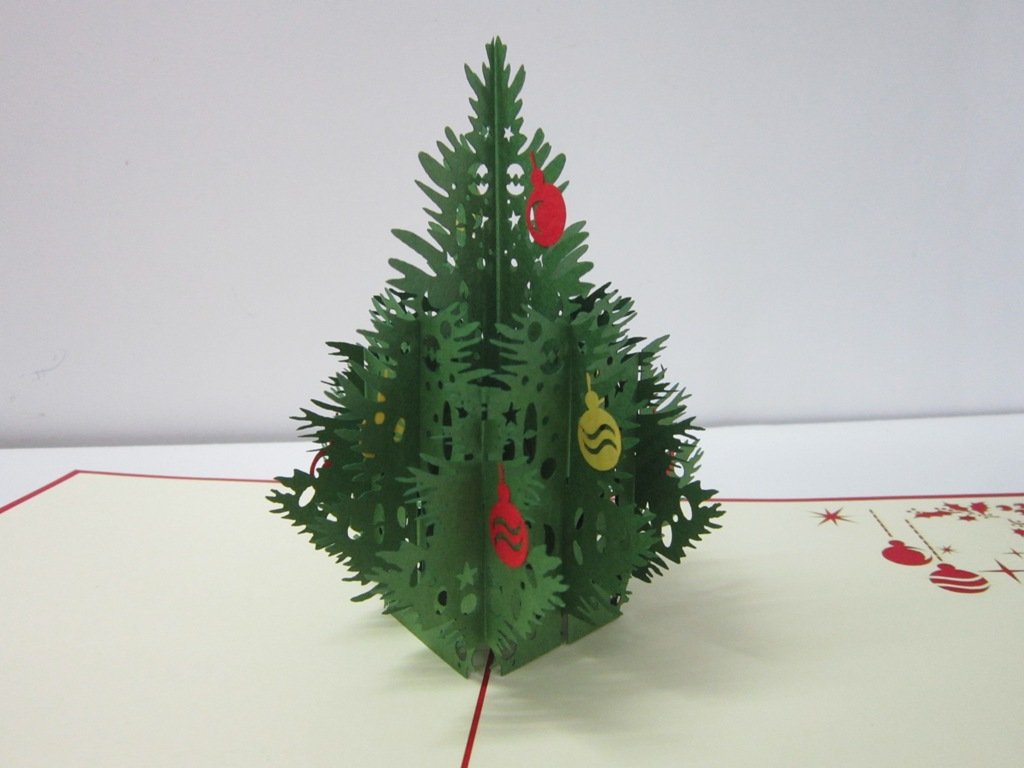thiệp nổi 3d hình cây thông noel