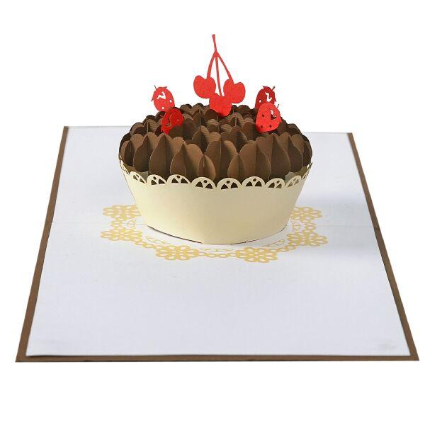 thiệp nổi hình bánh sinh nhật