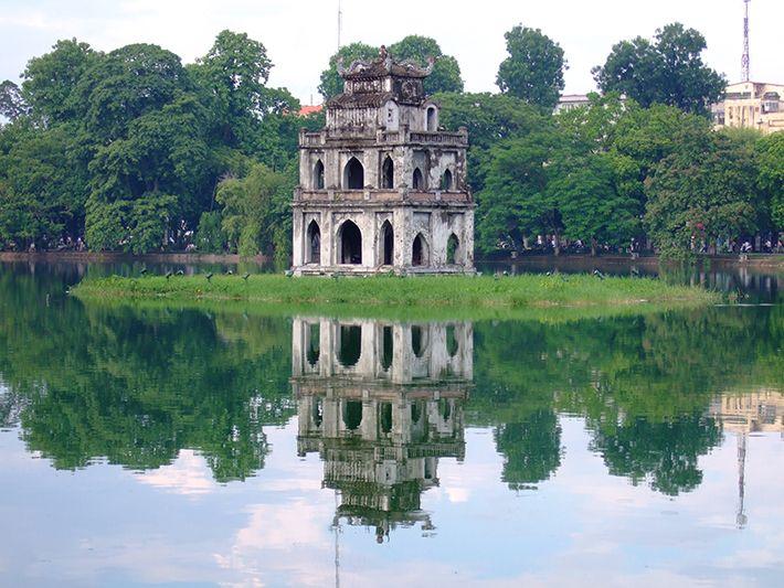 hình tháp rùa đẹp ở hồ gươm