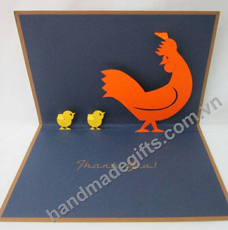 thiệp chúc mừng hình con gà