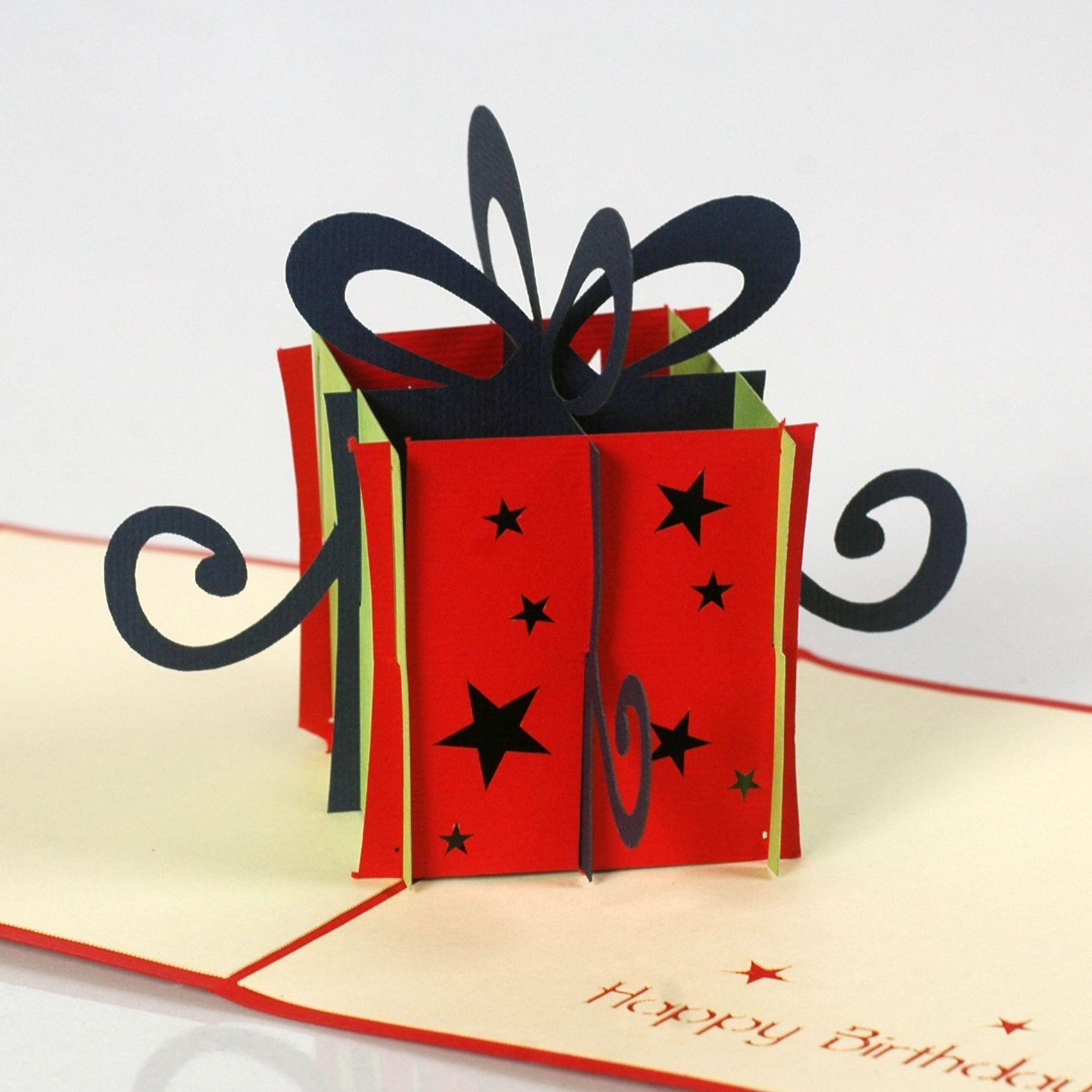 thiệp gói quà mừng sinh nhật