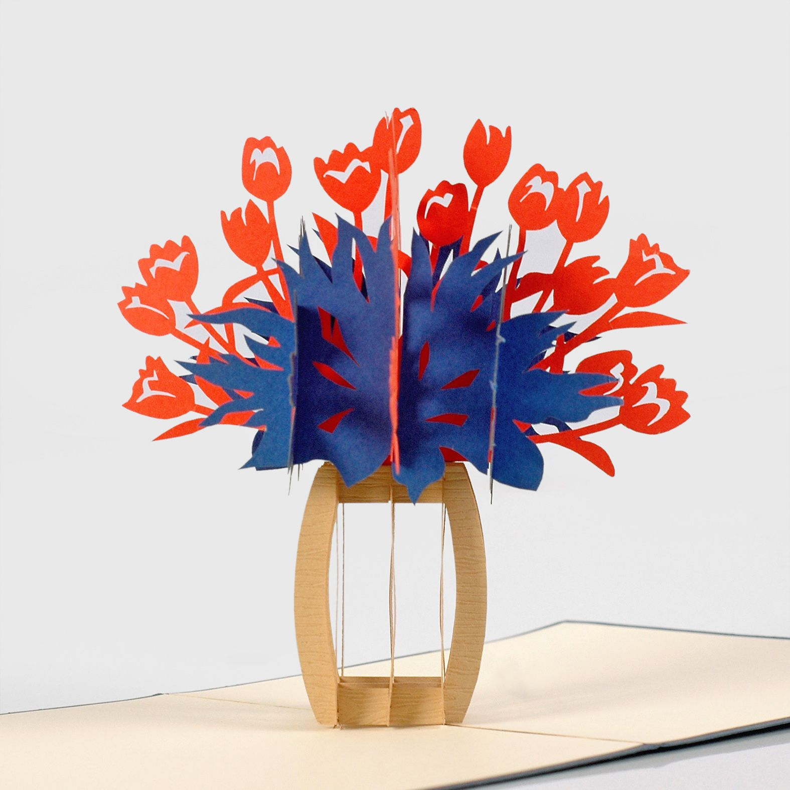 flower popup card