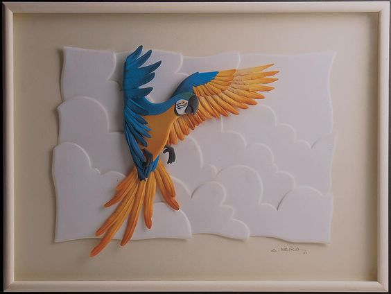 tranh cắt dán bằng giấy