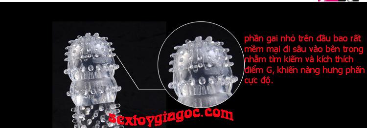 Bao cao su Đôn dên siêu gai đầu tròn - DC14A