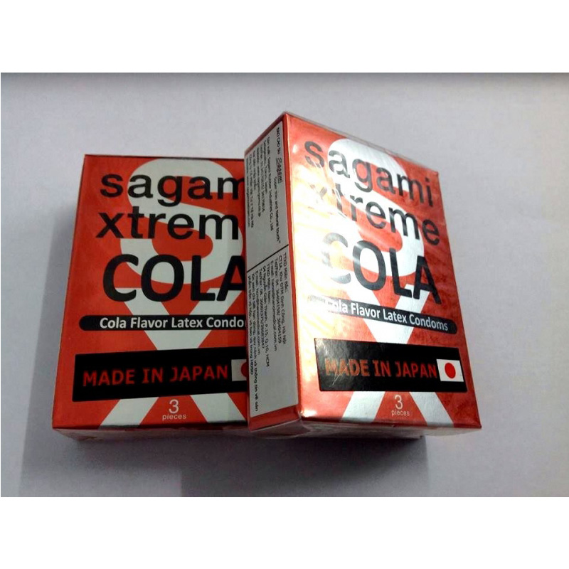 Bao cao su Sagami Exteme Cola hộp 3 chiếc - SGM08