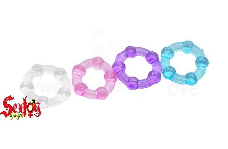 Vòng Silicone 5 bi sắc màu - DC21N