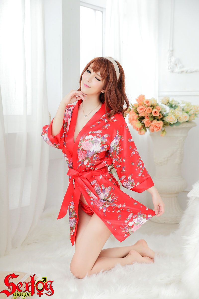 Váy ngủ Kimono màu đỏ nóng bỏng - NY02N