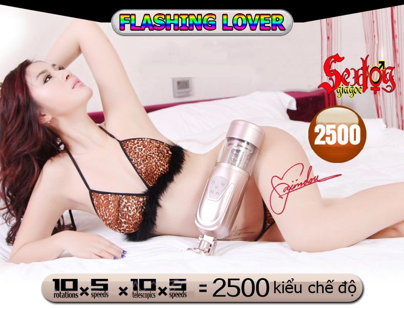 Máy bú mút dương vật tự động version 2 Flashing Lover