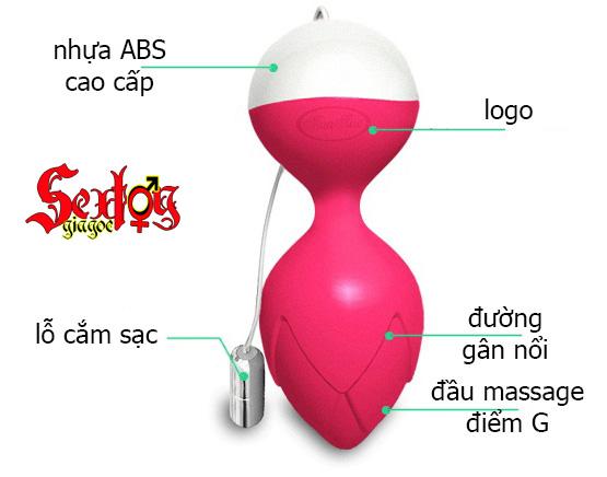 Trứng rung cao cấp ManNuo-Búp sen Monsa - DC02M