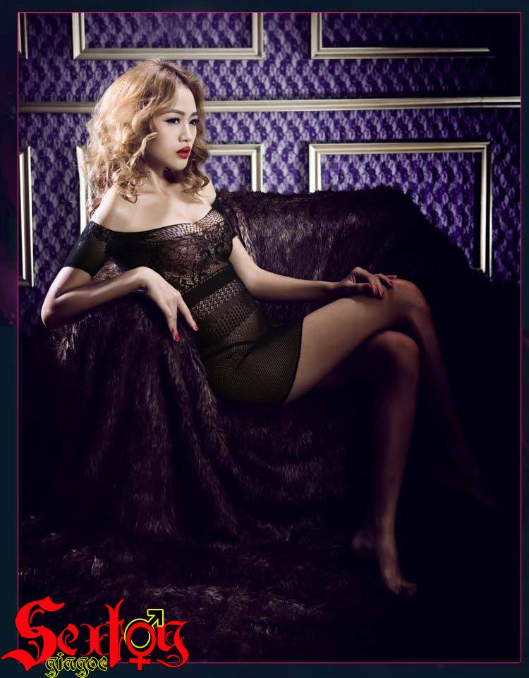 Váy ren đen mỏng manh, gợi cảm - NY01C