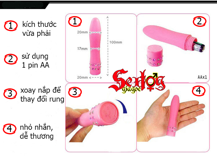 Massage mini Chisa-Ngón trỏ siêu rung - MS27A