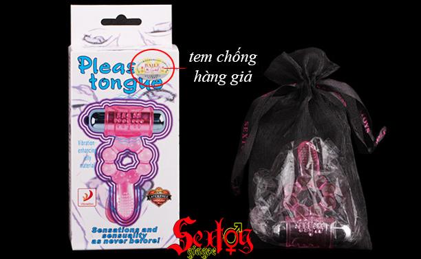 Vòng rung + lưỡi gai Pleasure tongue Baile - DC21H