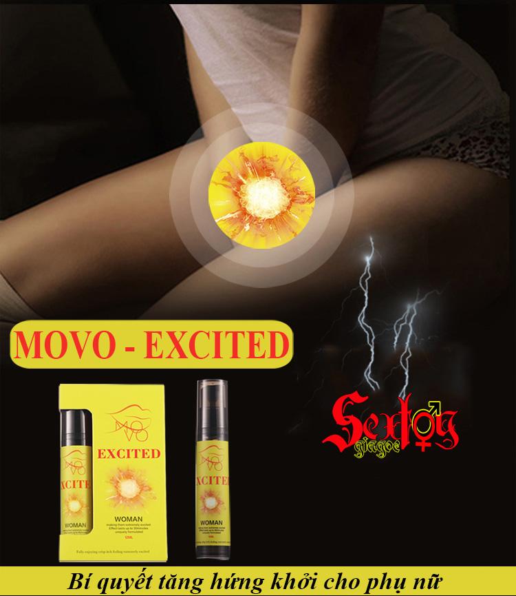 Gel bôi trơn+kích thích âm vật Movo Excited - XTS20G