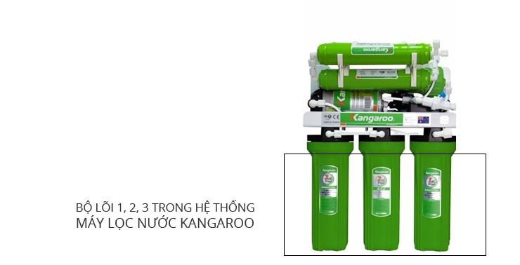 Bộ lõi lọc 1,2,3 trong hệ thống máy lọc nước Kangaroo