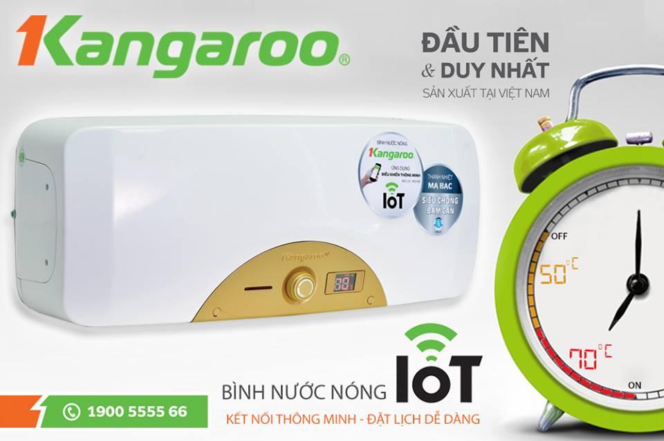 Chế độ đặt lịch thông minh của Bình nước nóng Kangaroo KG68IOT
