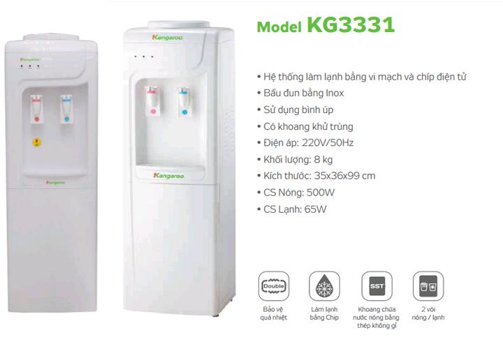 tính năng Cây nước nóng lạnh Kangaroo KG3331