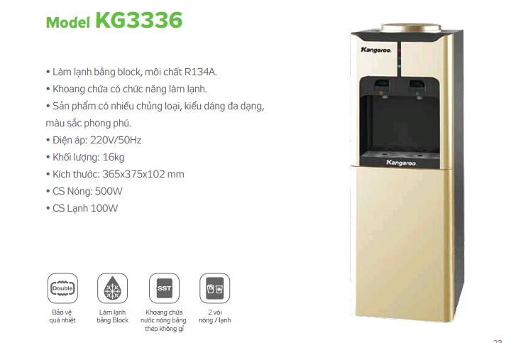 Máy làm nóng lạnh Kangaroo KG3336