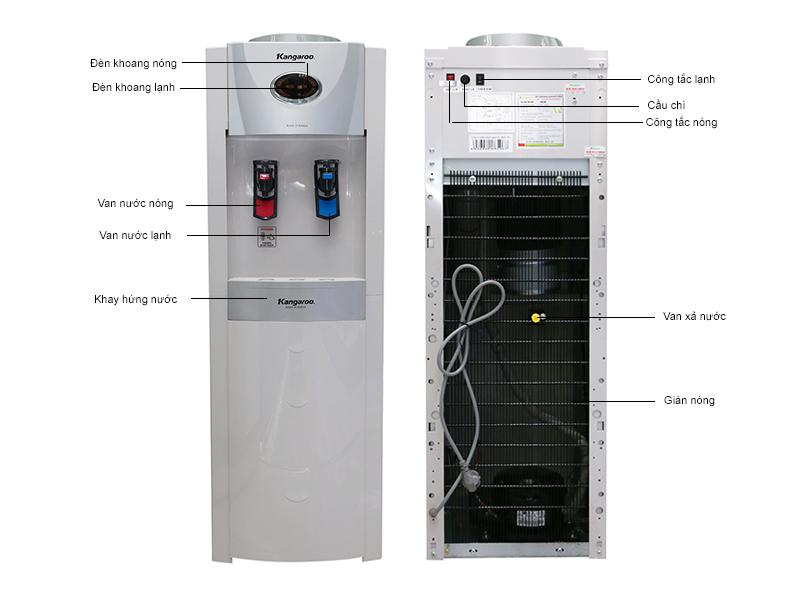 Cấu tạo chi tiết Cây nước nóng lạnh Kangaroo KG45