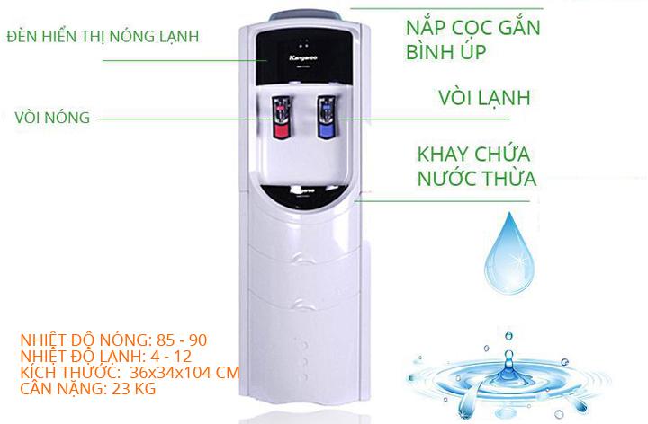 Thông số kỹ thuật Cây nước nóng lạnh Kangaroo KG46