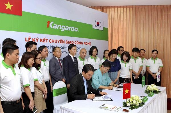 Lễ ký kết chuyển giao công nghệ nước kềm Hydrogen