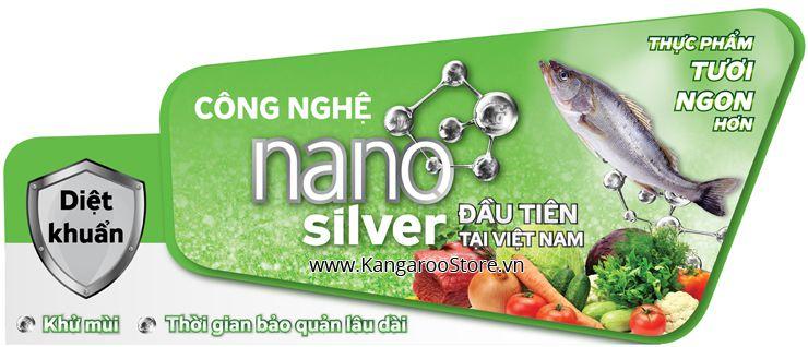 Công nghệ Nano Silver giúp Tủ đông, tủ mát Kangaroo giữ thực phẩm tươi ngon.