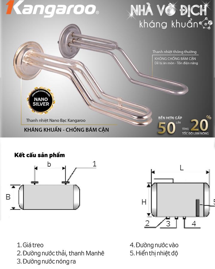 Sơ đồ cấu tạo Bình nước nóng trực tiếp
