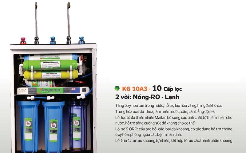 Máy lọc nước Kangaroo Hydrogen KG10A3 vỏ tủ VTU
