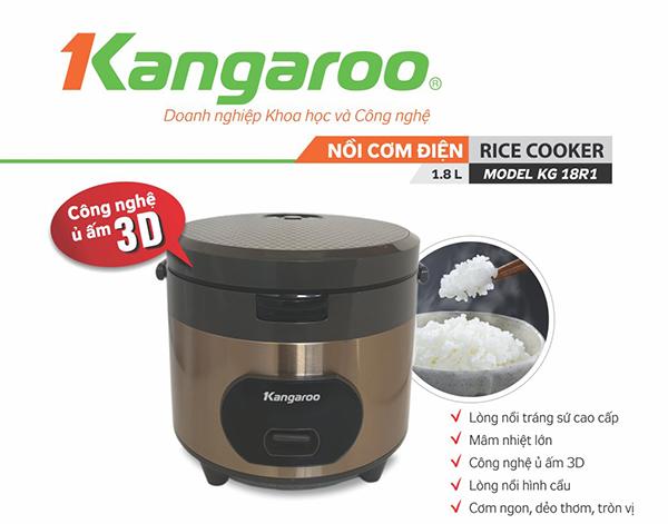 Nồi cơm điện Kangaroo KG18R1