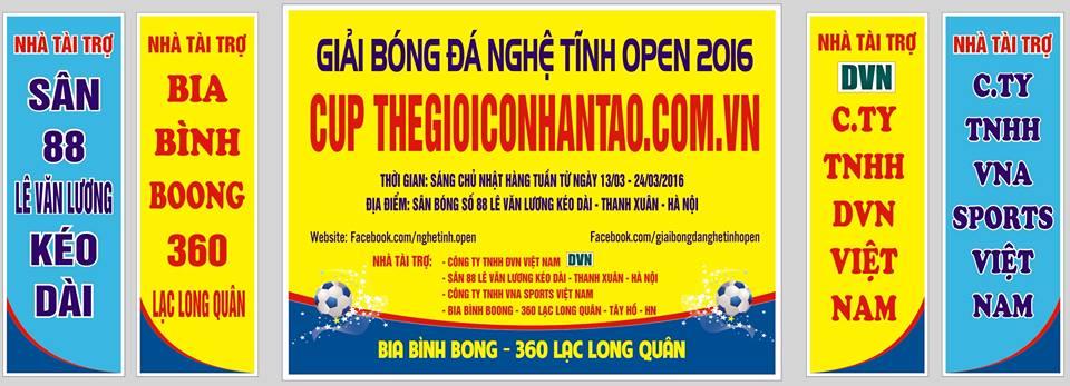 Giải bóng đá Nghệ Tĩnh 2016 - Cúp THEGIOICONHANTAO