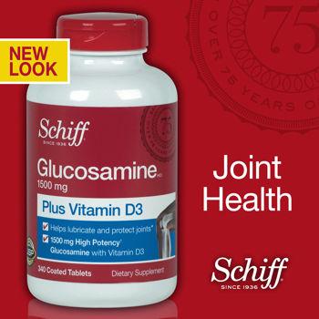 Viên bổ sụn khớp Glucosamine plus Vitamin D Schiff 1500mg