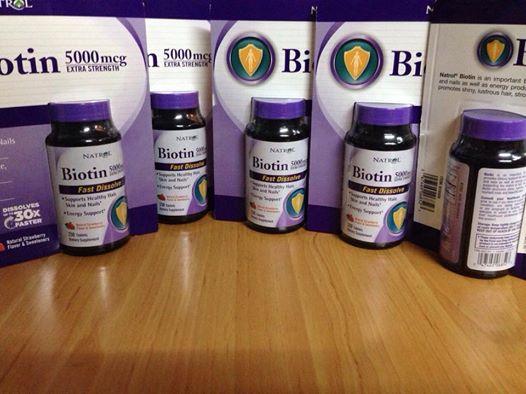 Biotin 5000mg giúp tóc, móng chắc khỏe