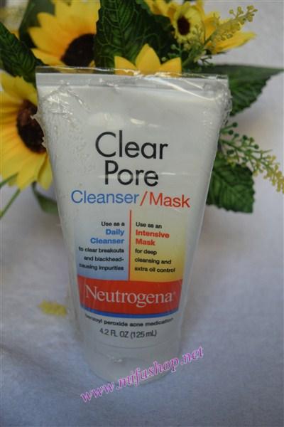 Sữa rửa mặt kiêm mặt nạ trị mụn neutrogena Clear Pore Cleanser/ Mask