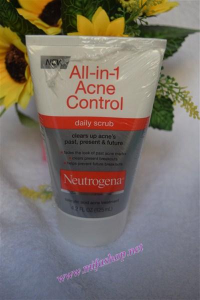 Sữa rửa mặt kiểm soát mụn hàng ngày neutrogena All-in-1 Acne Control Daily Scrub