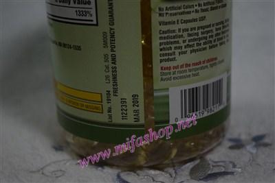 Vitamin E 400 IU Kirkland - Mifa Shop