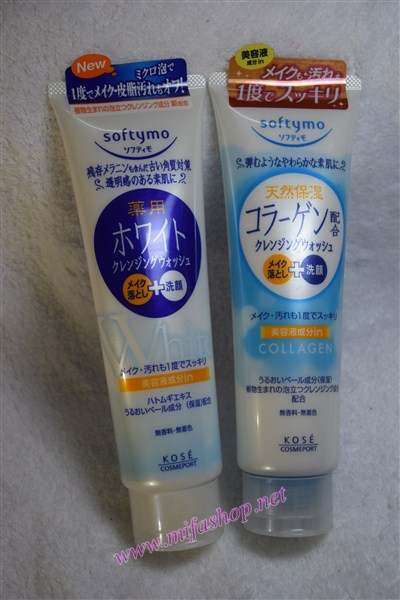 Sữa rửa mặt làm trắng da Kose Softymo White 190gr