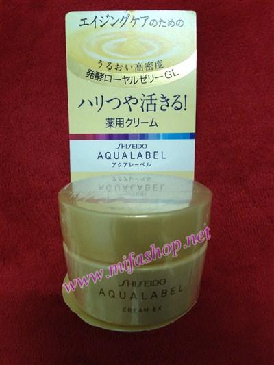Kem thuốc dưỡng da Shiseido Aqualable EX vàng cho da lão hóa