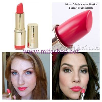 Son môi MILANI Color Statement - 12 Flamingo Rose