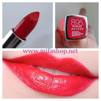 Son môi Maybelline Color Sensational Vivids 895 -ON FIRE RED
