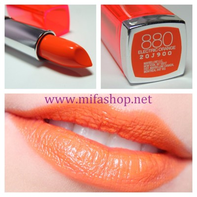Son môi Maybelline Color Sensational 880 - Electric Orange