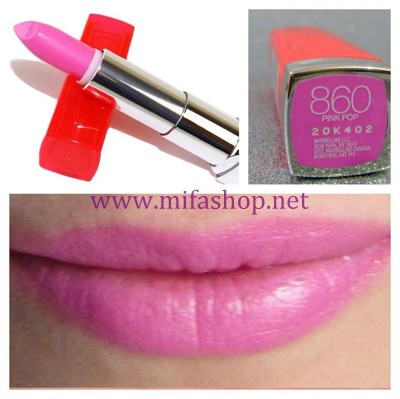 Son môi Maybeline Color Sensational Vivids 860 - Pink pop