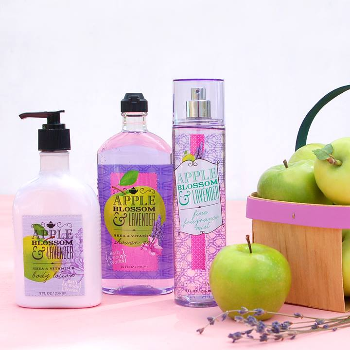 BỘ DƯỠNG DA BATH AND BODY WORK APPLE BLOSSOM & LAVENDER