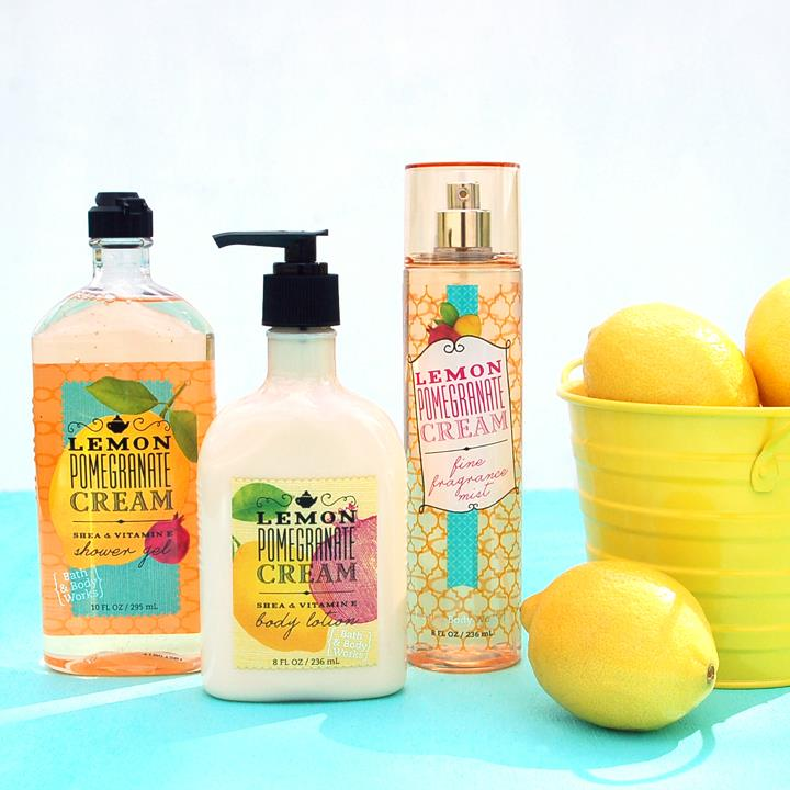 Set chăm sóc da bath n body work Lemon Pomegranate
