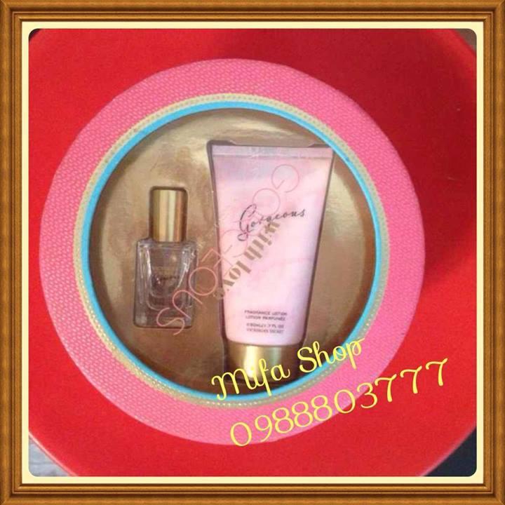 Bộ quà tặng Nước Hoa và dưỡng thể Gorgeous Victoria Secret
